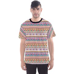 Colorful With Tribal Pattern Men s Sport Mesh Tee