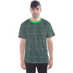 Green Pattern Of The Printed Circuit Board Men s Sport Mesh Tee