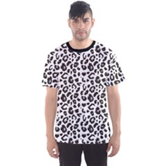 Black Leopard Print Pattern Animal Men s Sport Mesh Tee