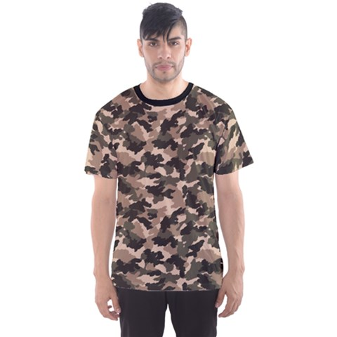Dark Camouflage Pattern Men s Sport Mesh Tee by CoolDesigns