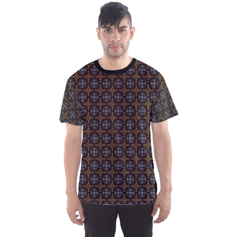 Dark Pattern Decorative Ornament Men s Sport Mesh Tee by CoolDesigns