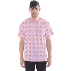 Pink Pacifier Pattern Men s Sport Mesh Tee