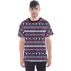 Black Christmas Pattern Pattern Men s Sport Mesh Tee