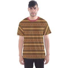 Brown African Geometric Ornament Men s Sport Mesh Tee