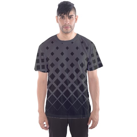 Black Gray Gradient Rhombuses Men s Sport Mesh Tee by CoolDesigns