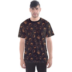 Black Happy Halloween Night Illustration Men s Sport Mesh Tee by CoolDesigns