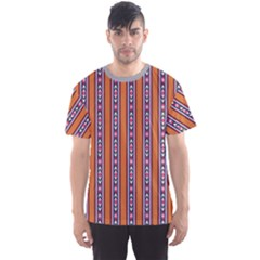 Colorful Ethnic Vertical Stripes Pattern Men s Sport Mesh Tee