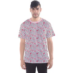 Pink Flamingo Bird Retro Pattern In Men s Sport Mesh Tee