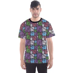 Colorful Decorative Pattern Men s Sport Mesh Tee