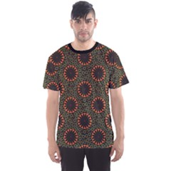 Colorful Flower Pattern Texture Men s Sport Mesh Tee