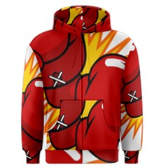 Boxing Gloves Red Orange Sport Men s Zipper Hoodie by Alisyart