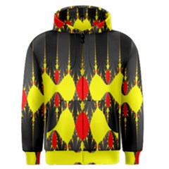 Hyperbolic Complack  Dynamic Men s Zipper Hoodie by Alisyart