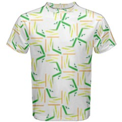 Patterns Boomerang Line Chevron Green Orange Yellow Men s Cotton Tee by Alisyart