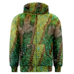 Colorful Chameleon Skin Texture Men s Zipper Hoodie by Simbadda