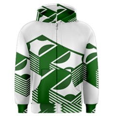 Rich Dollar Money Green Men s Zipper Hoodie by Alisyart