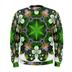 Green Flower In Kaleidoscope Men s Sweatshirt by Simbadda