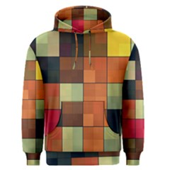 Background With Color Layered Tiling Men s Pullover Hoodie by Simbadda