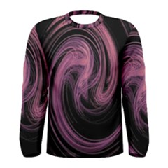 A Pink Purple Swirl Fractal And Flame Style Men s Long Sleeve Tee by Simbadda
