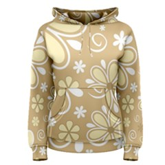 Flower Floral Star Sunflower Grey Women s Pullover Hoodie by Mariart
