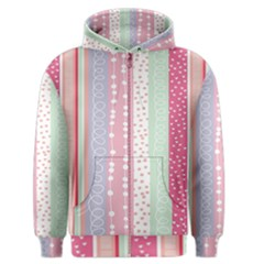 Heart Love Valentine Polka Dot Pink Blue Grey Purple Red Men s Zipper Hoodie by Mariart