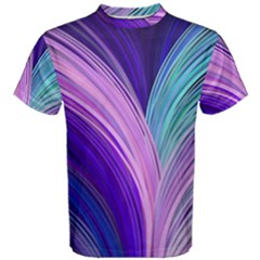 Color Purple Blue Pink Men s Cotton Tee by Mariart