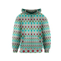 Large Colored Polka Dots Line Circle Kids  Zipper Hoodie by Mariart