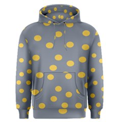 Limpet Polka Dot Yellow Grey Men s Pullover Hoodie by Mariart