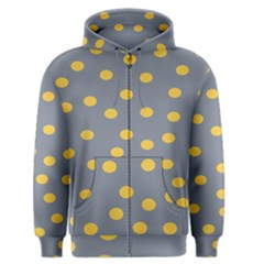 Limpet Polka Dot Yellow Grey Men s Zipper Hoodie by Mariart