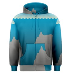Mariana Trench Sea Beach Water Blue Men s Zipper Hoodie by Mariart