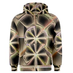 Background With Fractal Crazy Wheel Men s Zipper Hoodie by Simbadda
