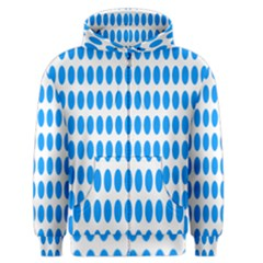 Polka Dots Blue White Men s Zipper Hoodie by Mariart