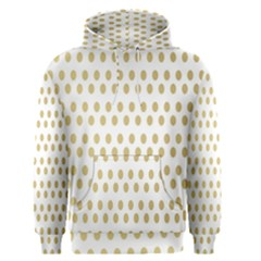 Polka Dots Gold Grey Men s Pullover Hoodie by Mariart