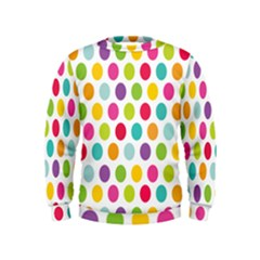 Polka Dot Yellow Green Blue Pink Purple Red Rainbow Color Kids  Sweatshirt by Mariart