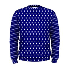 Rainbow Polka Dot Borders Colorful Resolution Wallpaper Blue Star Men s Sweatshirt by Mariart