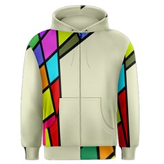 Digitally Created Abstract Page Border With Copyspace Men s Zipper Hoodie by Simbadda