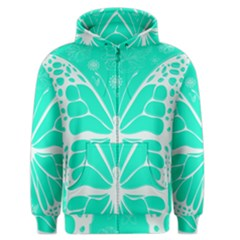 Butterfly Cut Out Flowers Men s Zipper Hoodie by Simbadda