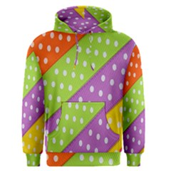 Colorful Easter Ribbon Background Men s Pullover Hoodie by Simbadda