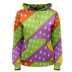 Colorful Easter Ribbon Background Women s Pullover Hoodie by Simbadda