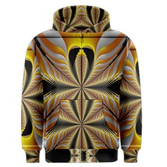 Fractal Yellow Butterfly In 3d Glass Frame Men s Zipper Hoodie by Simbadda