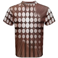 Technical Background With Circles And A Burst Of Color Men s Cotton Tee by Simbadda