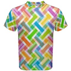 Abstract Pattern Colorful Wallpaper Background Men s Cotton Tee by Simbadda