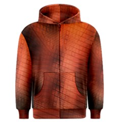 Background Technical Design With Orange Colors And Details Men s Zipper Hoodie by Simbadda