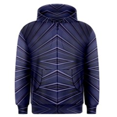 Blue Metal Abstract Alternative Version Men s Zipper Hoodie by Simbadda