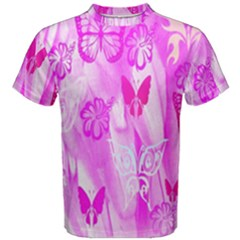 Butterfly Cut Out Pattern Colorful Colors Men s Cotton Tee by Simbadda