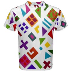 A Colorful Modern Illustration For Lovers Men s Cotton Tee by Simbadda