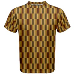 Gold Abstract Wallpaper Background Men s Cotton Tee by Simbadda