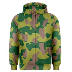 Camouflage Green Yellow Brown Men s Zipper Hoodie by Mariart