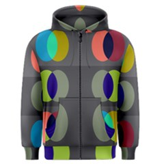 Circles Line Color Rainbow Green Orange Red Blue Men s Zipper Hoodie by Mariart