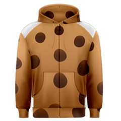 Cookie Chocolate Biscuit Brown Men s Zipper Hoodie by Mariart