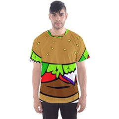 Fast Food Lunch Dinner Hamburger Cheese Vegetables Bread Men s Sport Mesh Tee by Mariart